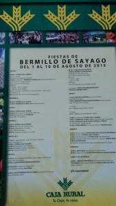 Programa de fiestas 2015 - Bermillo de Sayago